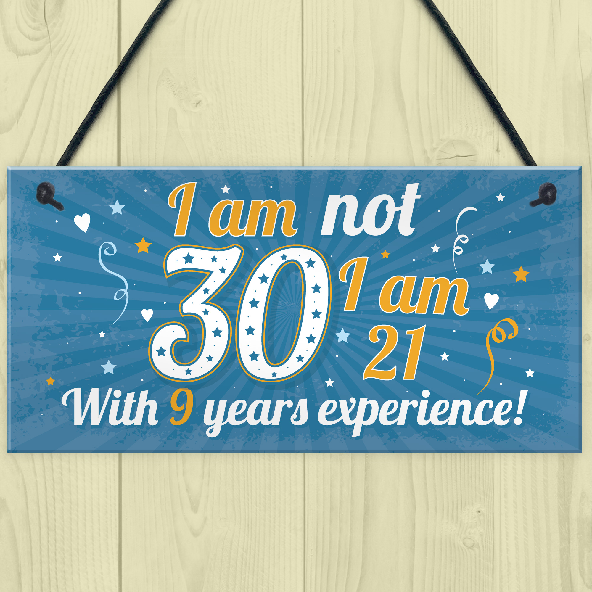 Details About Funny 30th Birthday Gift Hanging Plaque Novelty Friendship Family Brother