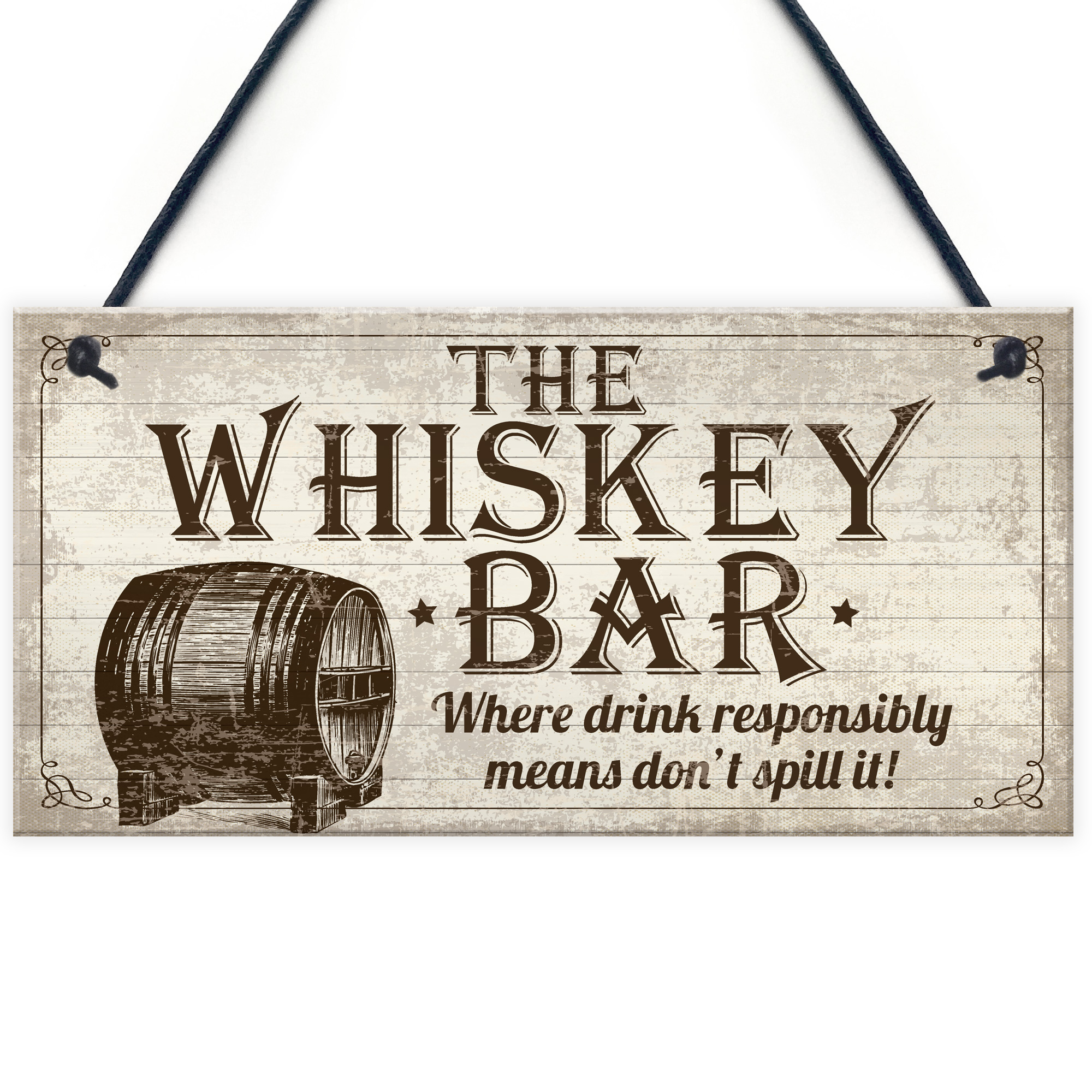 Image Is Loading Vintage Whiskey Bar Plaque Sign Home Pub