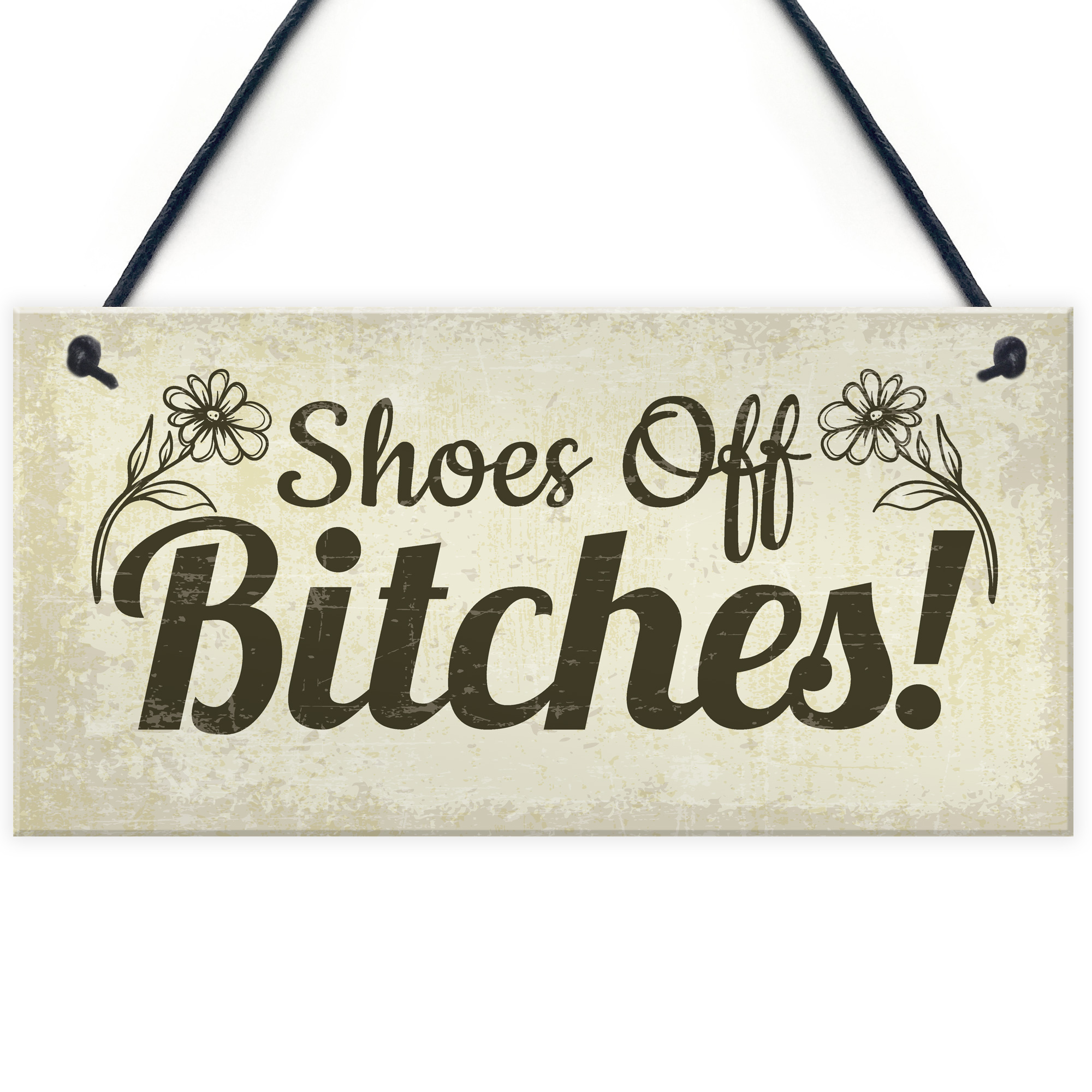 64a49de0ada5d Details about Funny Take Your Shoes Off Sign Welcome Hanging Plaque House  Porch Decor Gifts