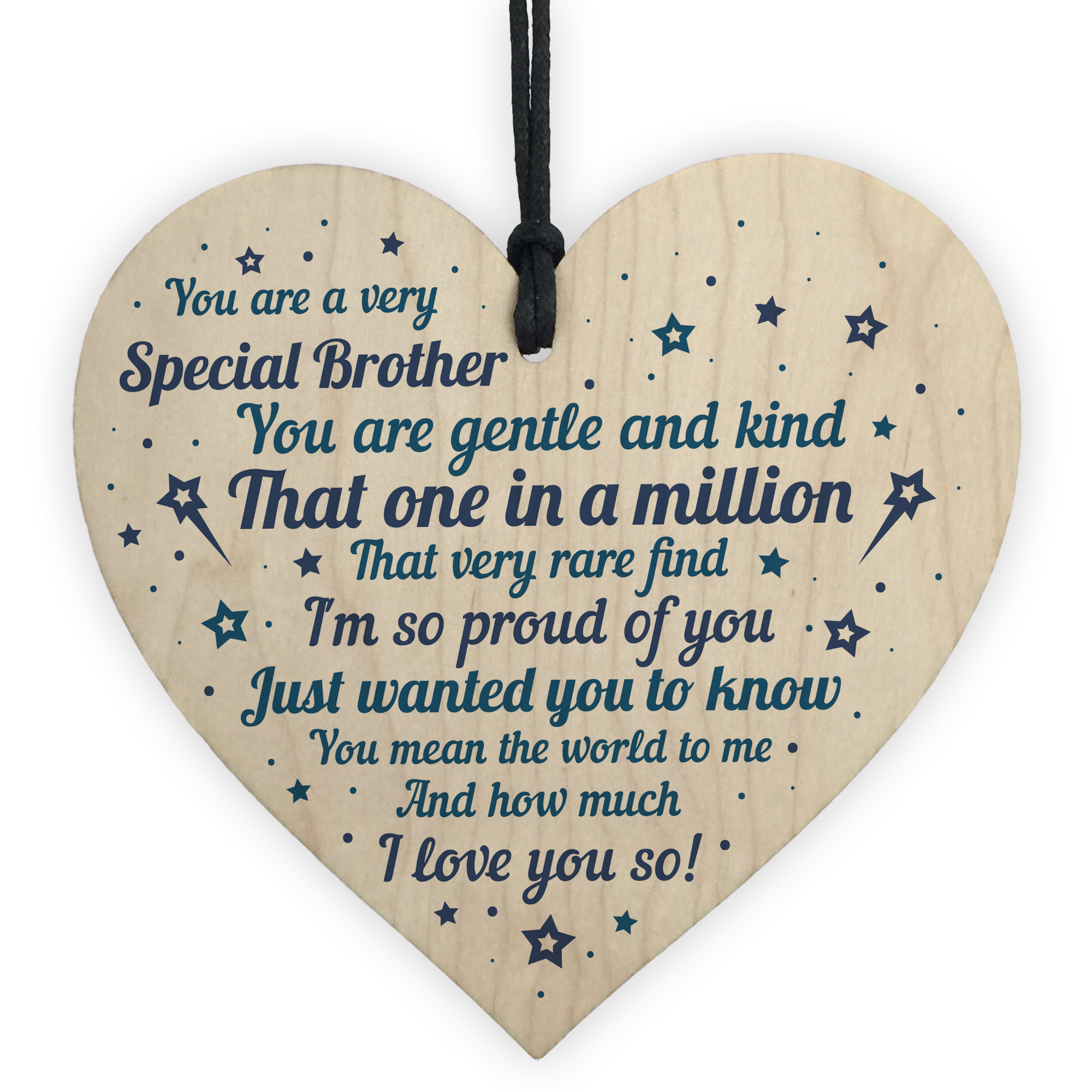 Details About Brother Sister Birthday Gifts Wooden Heart Christmas Card Keepsake
