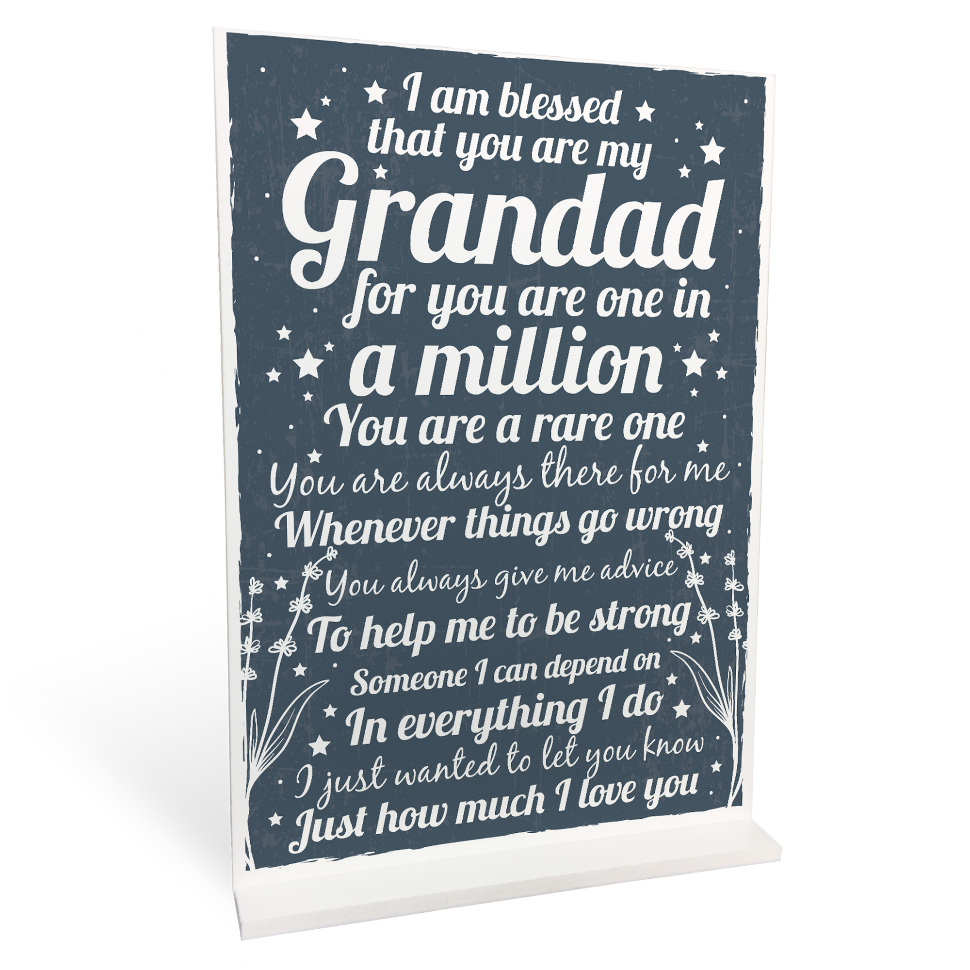 Details About Christmas Birthday Gifts For Grandad Grandparents Standing Plaque Thank You Gift