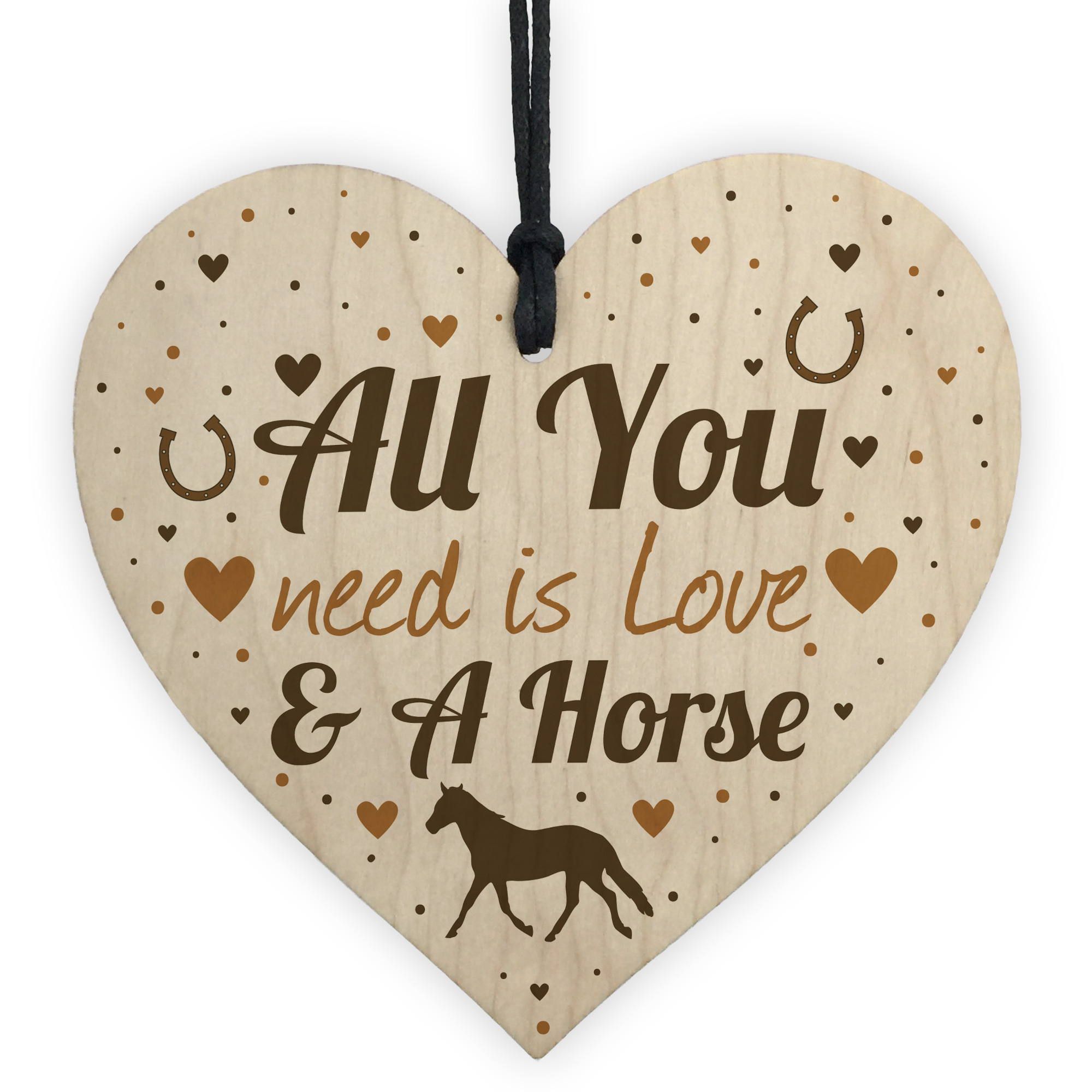 Horse Gifts For Girls Women Wooden Heart Stable Door Plaque Daughter