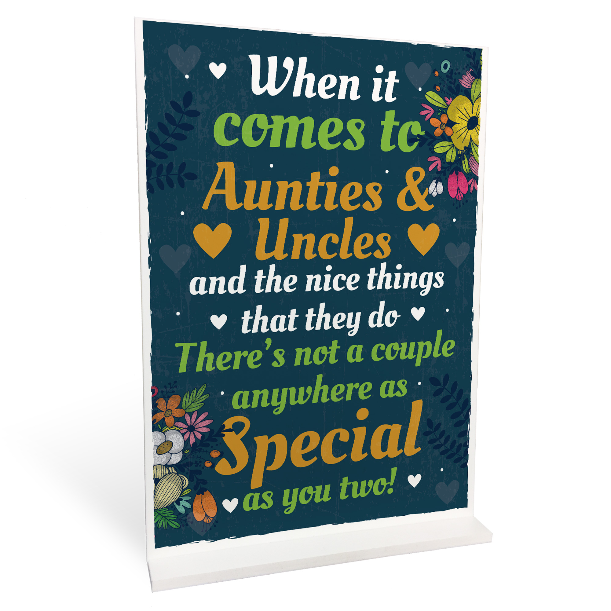 Details About Auntie And Uncle Christmas Birthday Card Gift From Niece Nephew Thank You Plaque