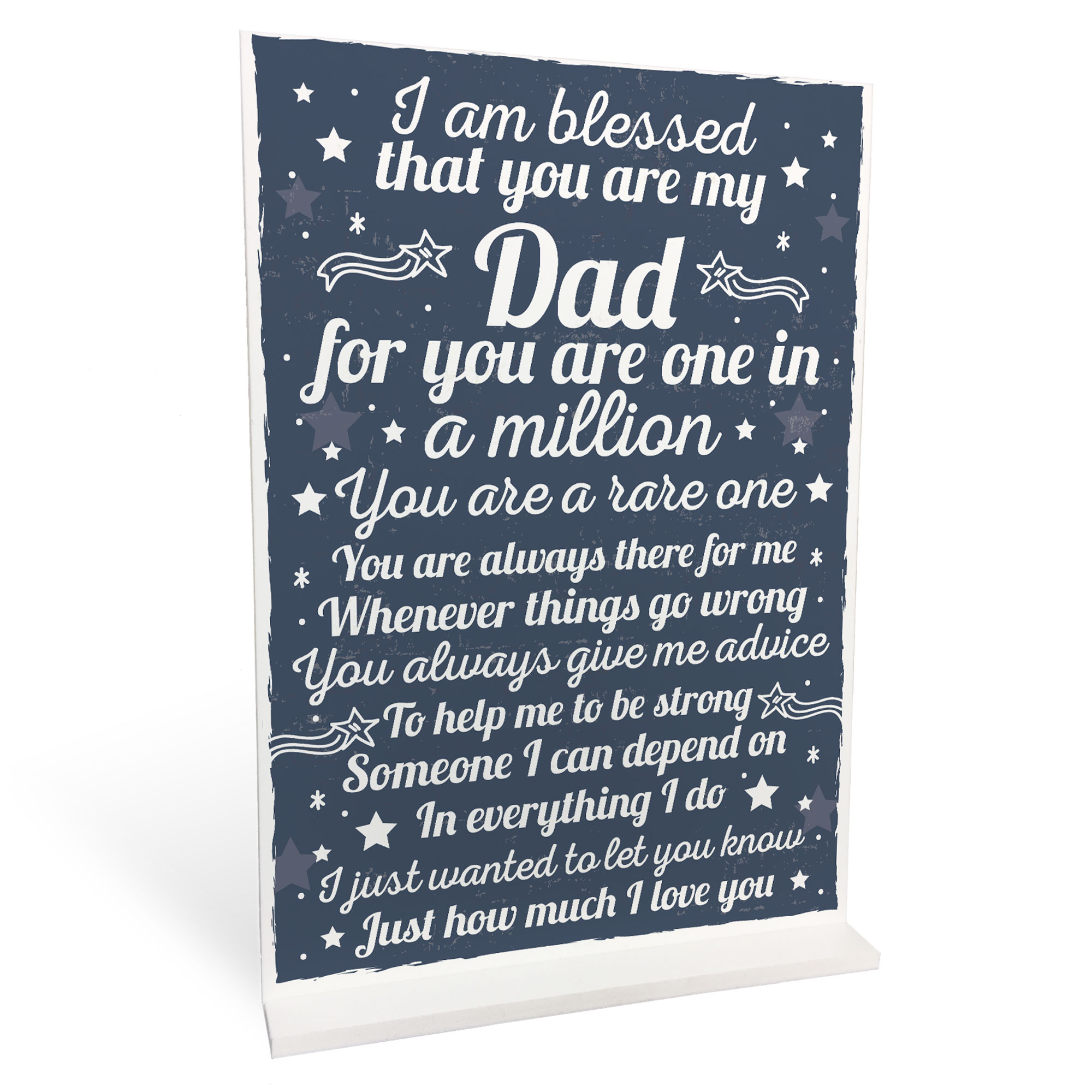 Dad Christmas Gifts From Daughter: THANK YOU DAD Daddy Daughter Gifts Plaque Birthday
