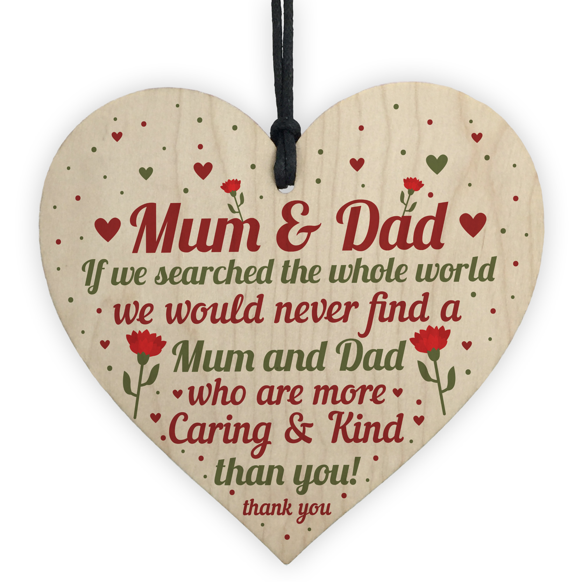 Heart Shaped Gift for Dad or Mum