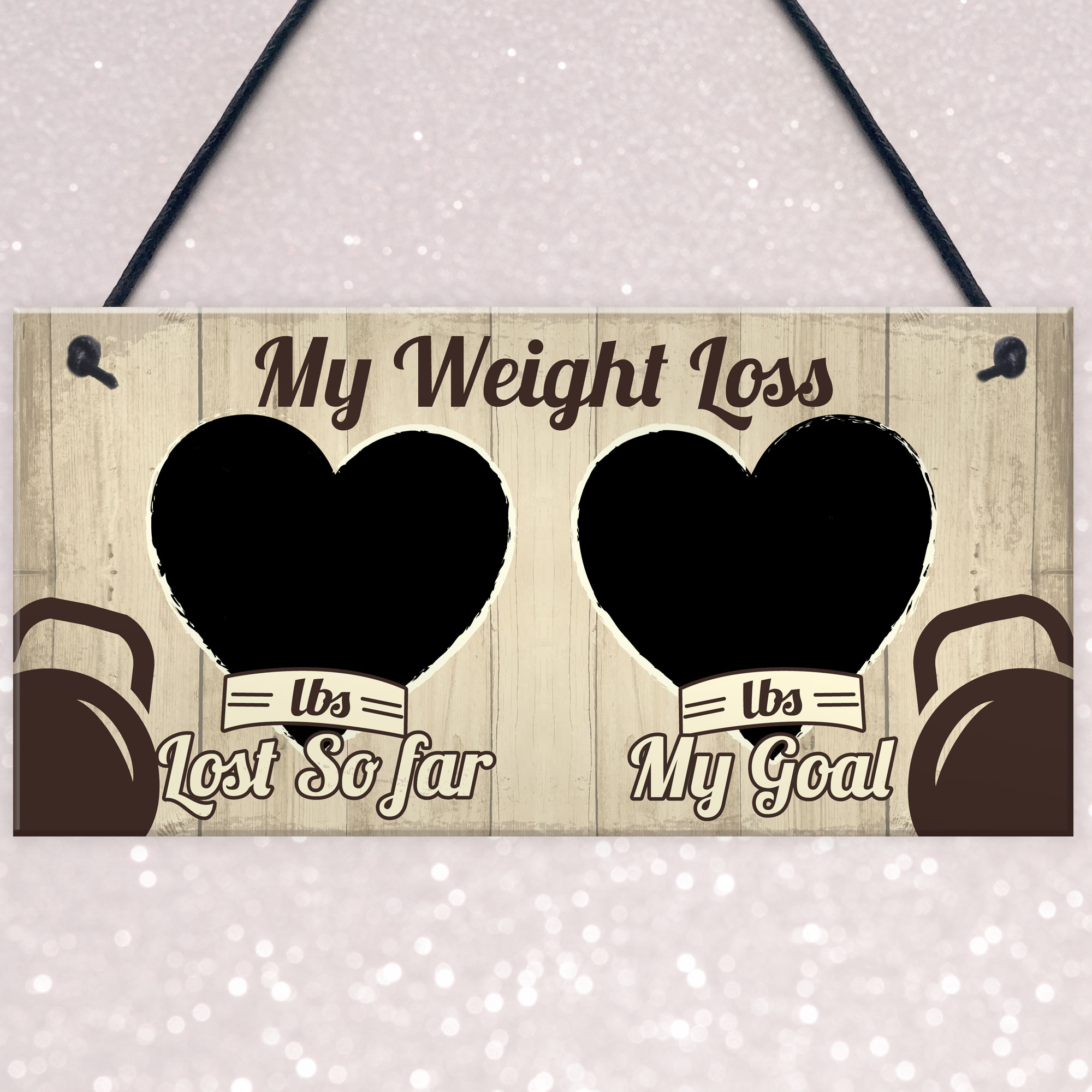 HANDMADE SHABBY CHIC WEIGHT LOSS COUNTDOWN CHART SIGN PLAQUE SLIMMING WORLD DIET