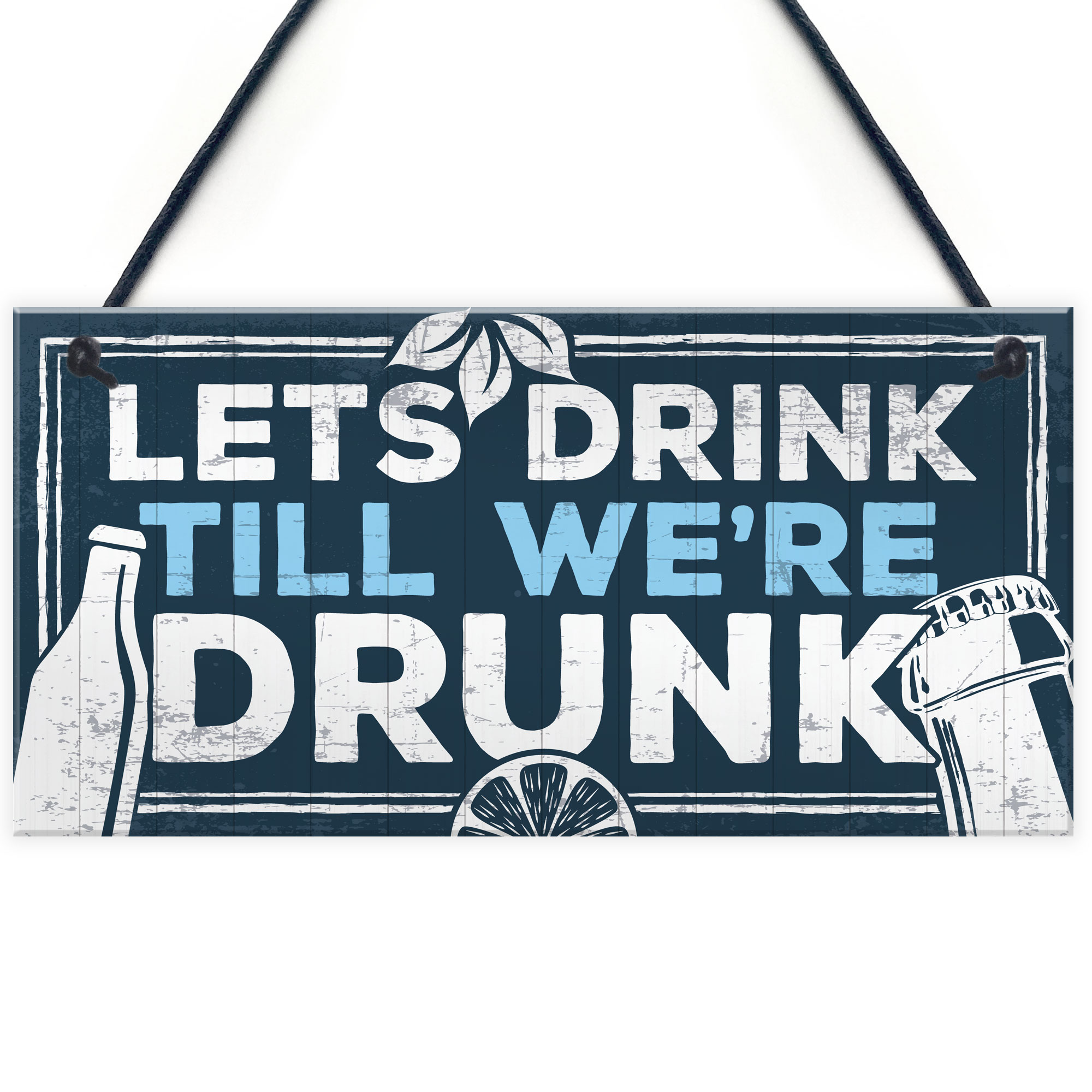 Novelty Home Bar Signs Funny Friendship Alcohol Gift Quirky Birthday