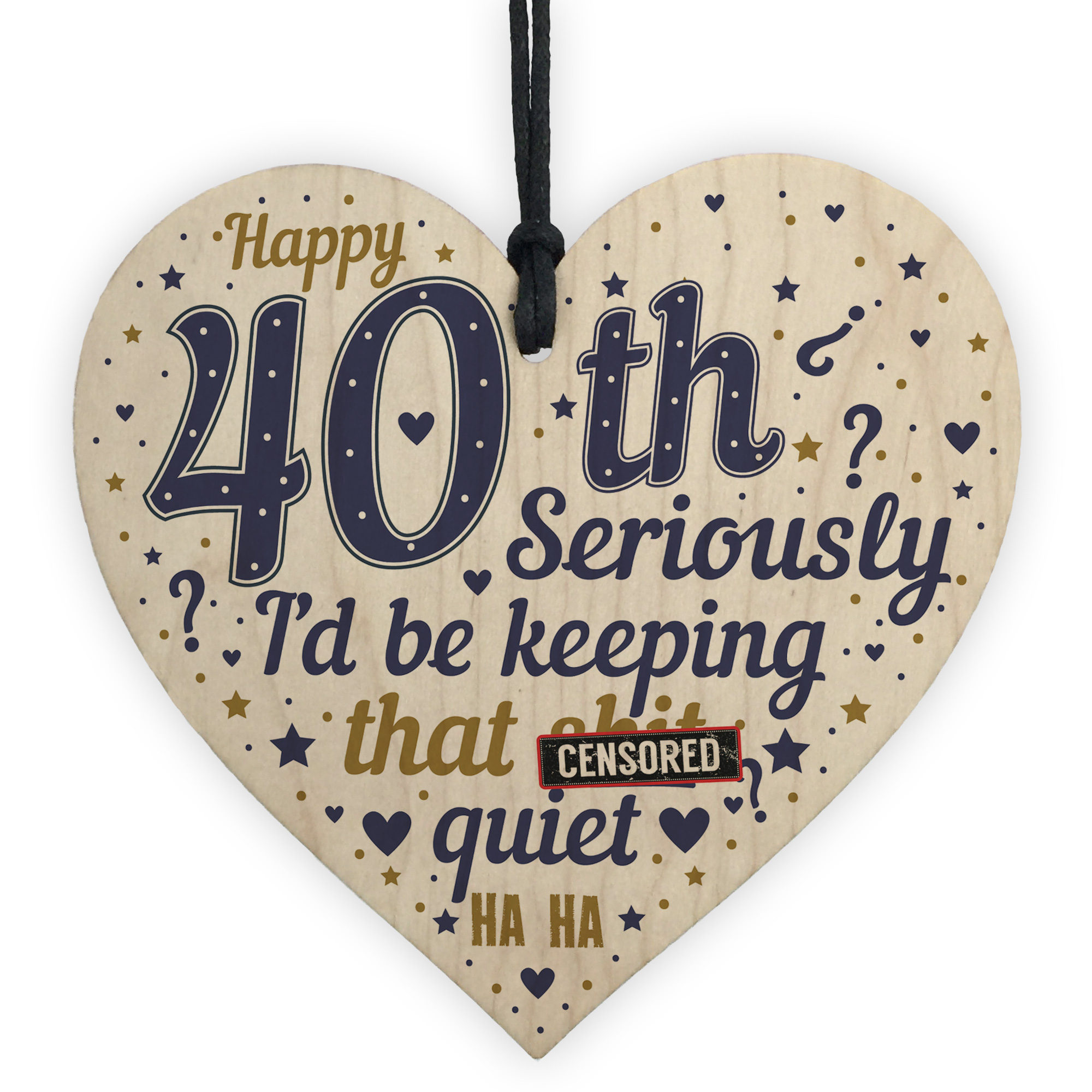 Details About 40th Birthday Gift Best Friend Funny For Women Men Wood Heart