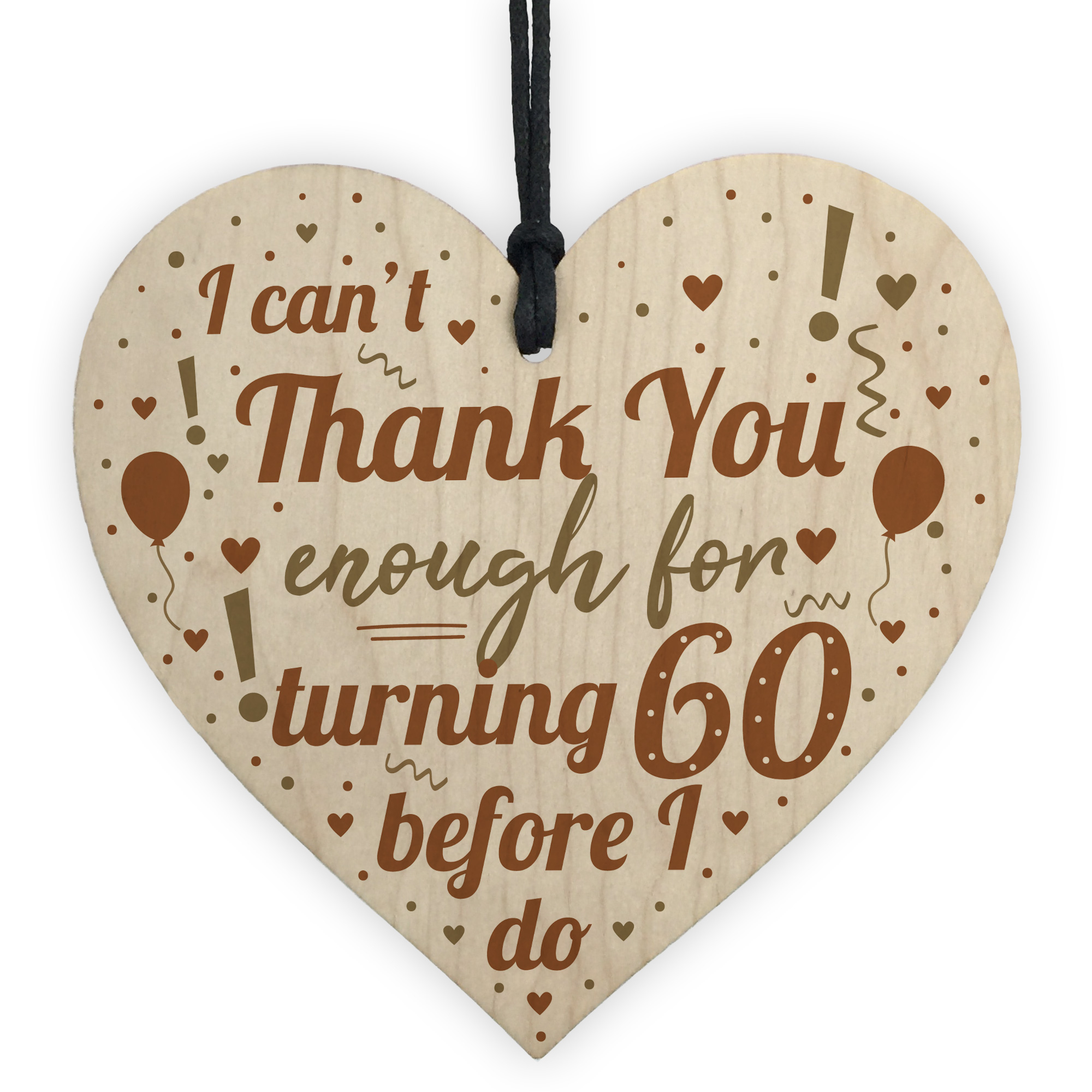 Details About Funny 60th Birthday Present For Women Gifts Men Card