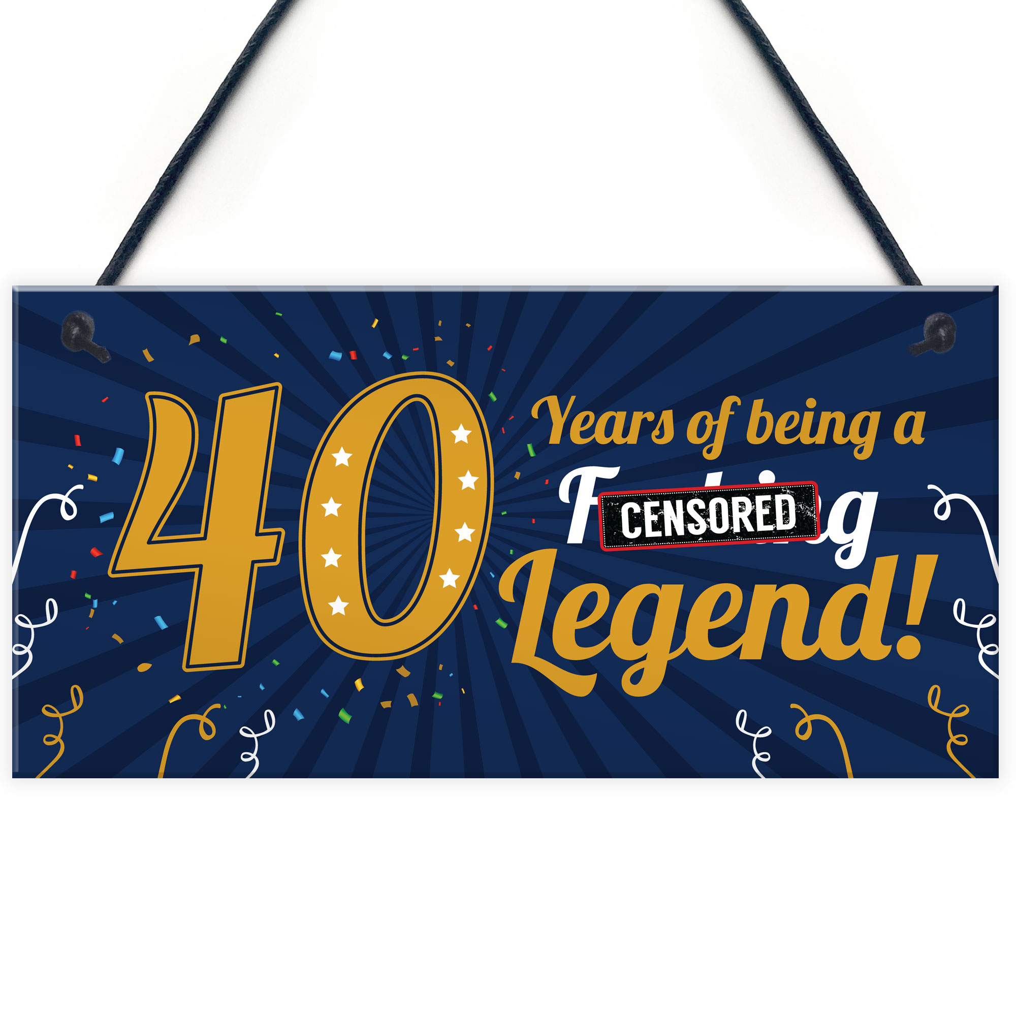 Details About Funny 40th Birthday Present For Men Women 50th Card Female Male Plaque