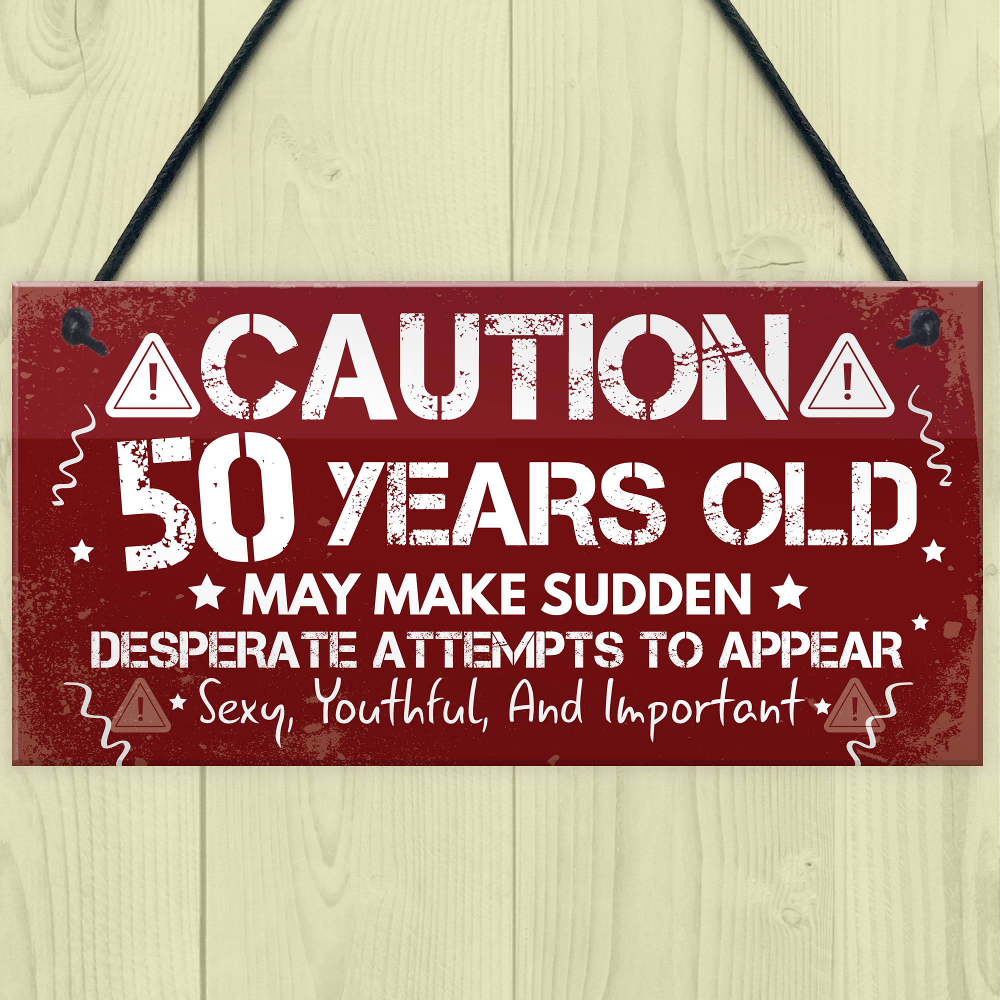 Details About FUNNY 50th Birthday Gift For Mum Dad Nan Grandad Decoration Plaque