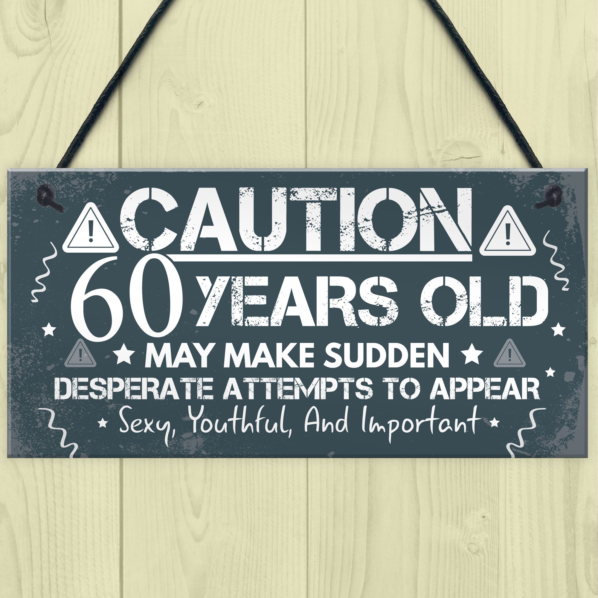 Details About 60th Birthday Card For Men Women Friend Gifts Him Her Plaques