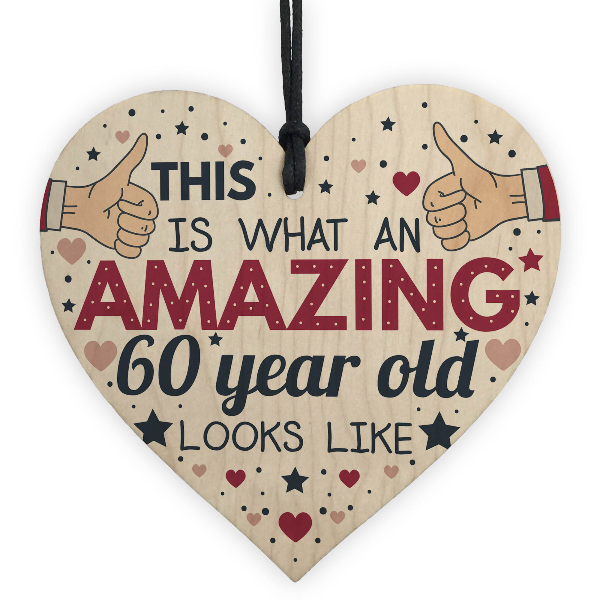 Details About AWESOME 60 Year Old Funny 60th Birthday Gift Card Wood Keepsakes