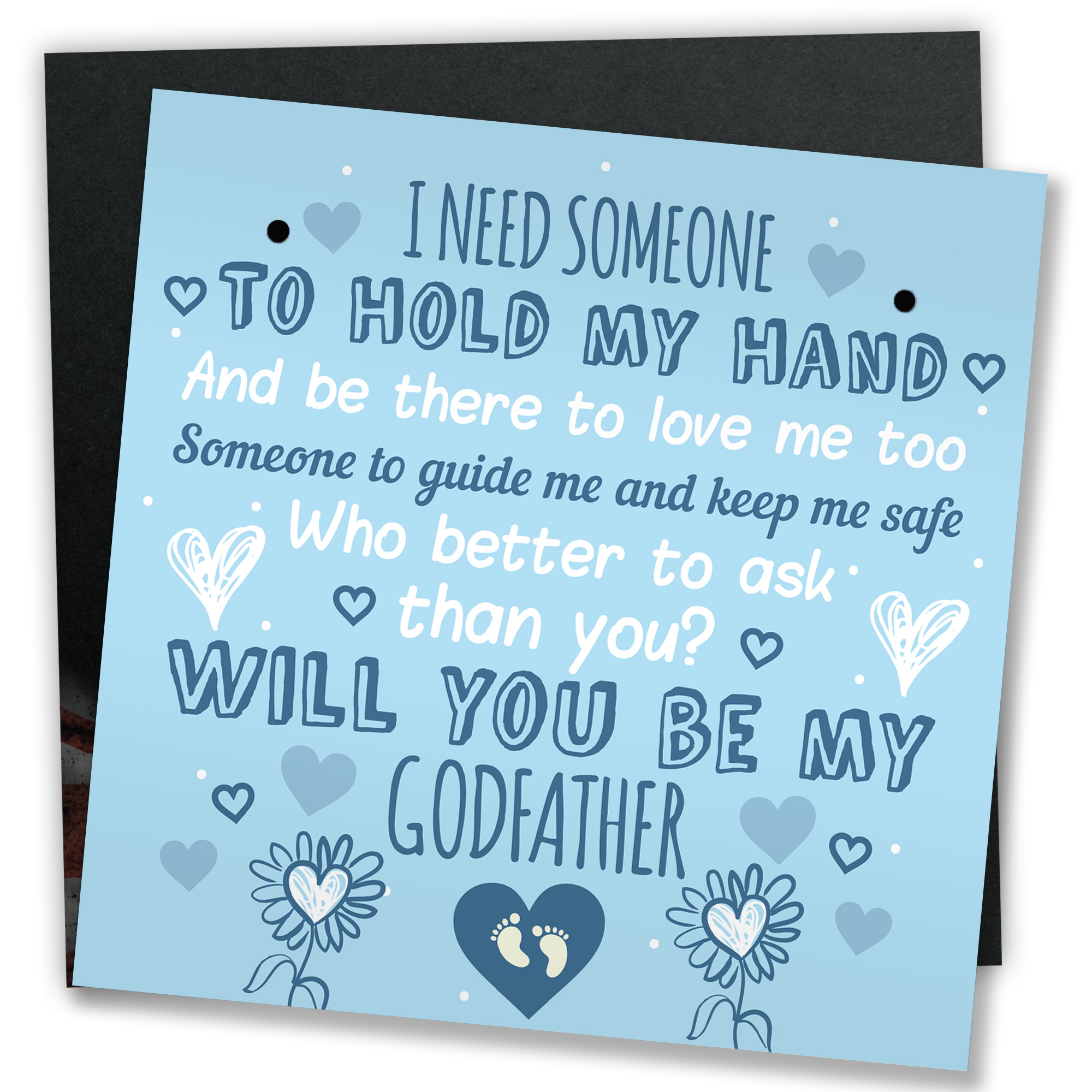 Will You Be My Godfather Gift Personalised Message in a Bottle Card Alternative