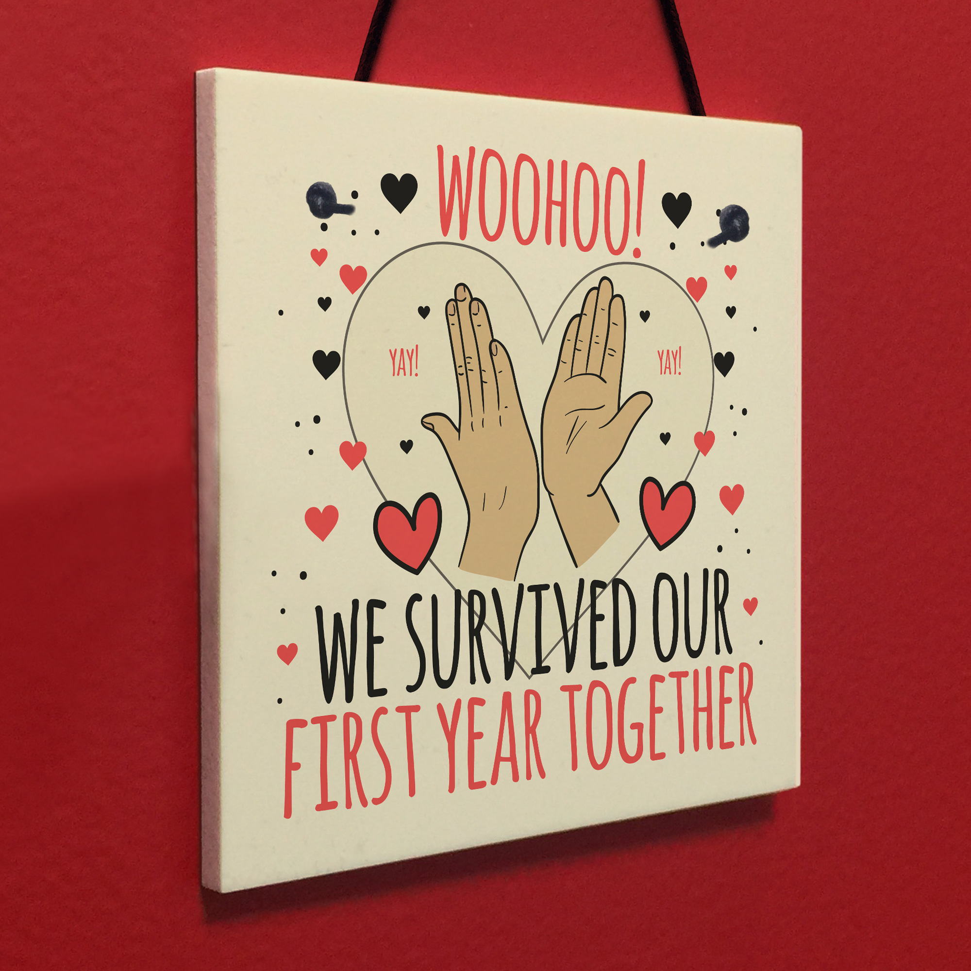 1st anniversary card first anniversary gift for him her