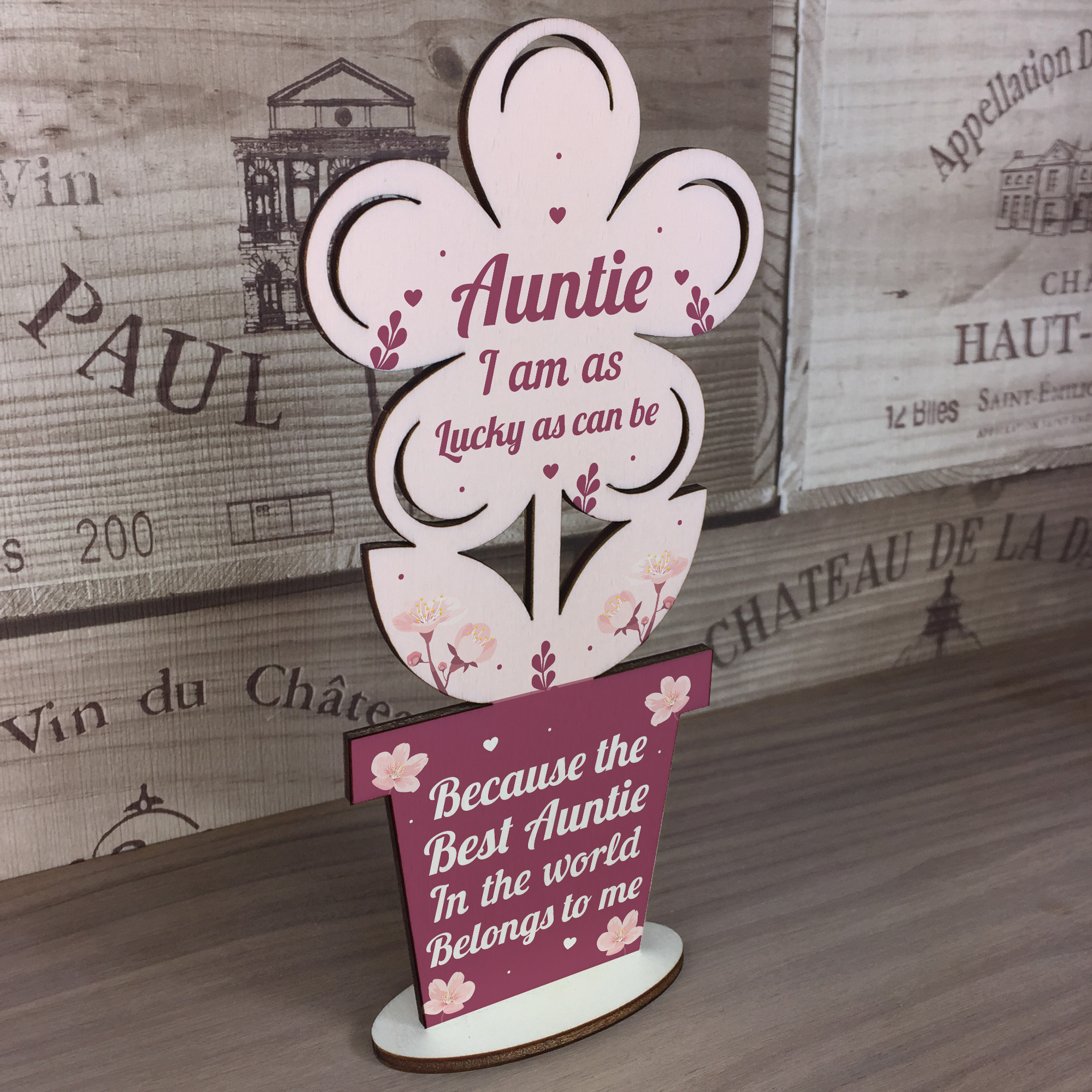 Christmas Gifts For Nephew And Niece: Auntie Birthday Gifts From Niece And Nephew Wooden Flower